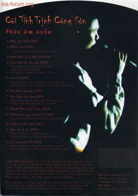 """Bìa 4 - CD """"Cõi tình Trịnh Công Sơn"""""""