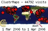 Visits map to 2006-03