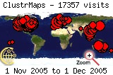 Visits map to 2005-11