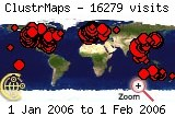 Visits map to 2006-01