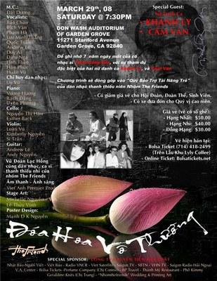 Poster Doa Hoa Vo Thuong - 29/03/2008