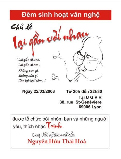 Đêm sinh hoạt văn nghệ, 22/03/2008, Lyon.
