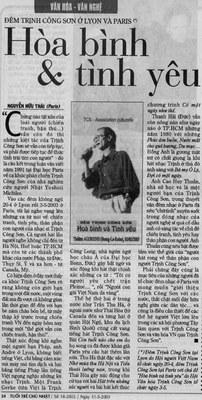 Báo Tuổi Trẻ 11.05.2003