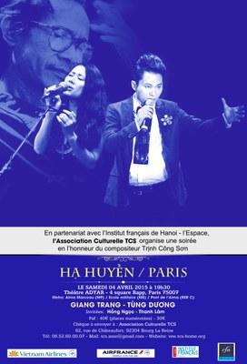 "Poster ""Hạ Huyền Paris"" FR"