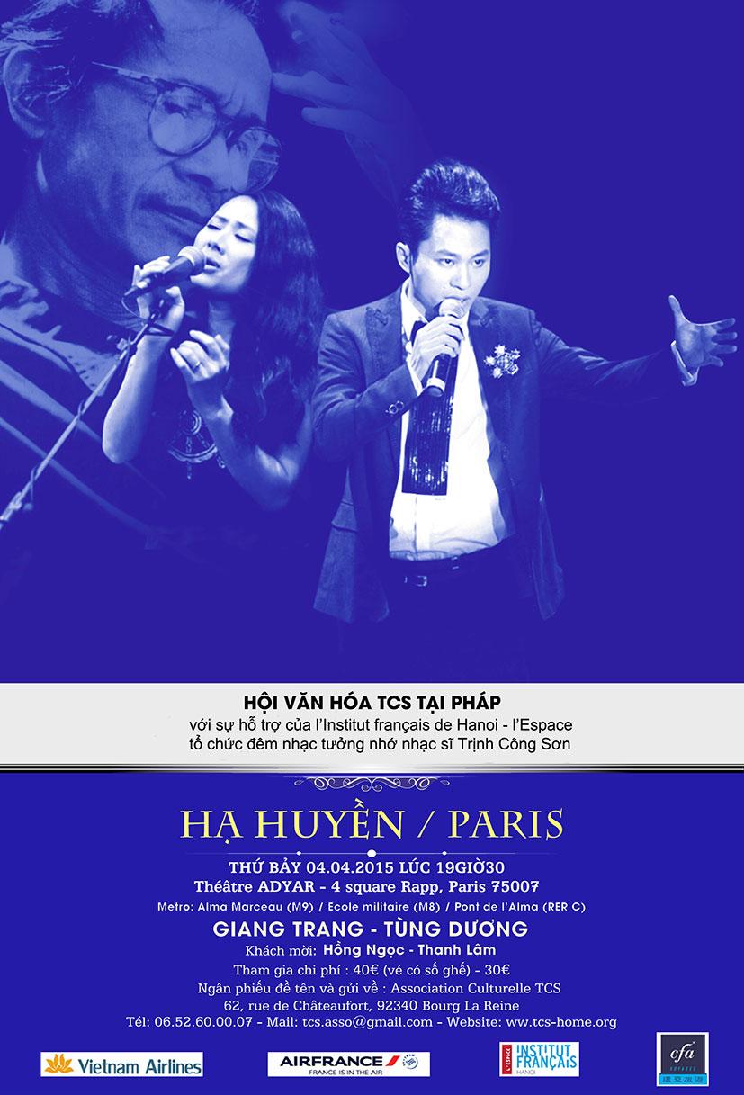 "Poster ""Hạ Huyền Paris"" VN"