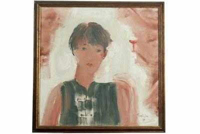 Người con gái và ly rượu đỏ