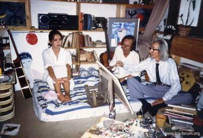 với Văn Cao, 1989