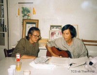 tại Nhà Việt Nam, Paris, 1989. [photo Thanh Hải]