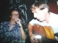 Rich gặp nhạc sĩ Trịnh Công Sơn tại TPHCM năm 1993.