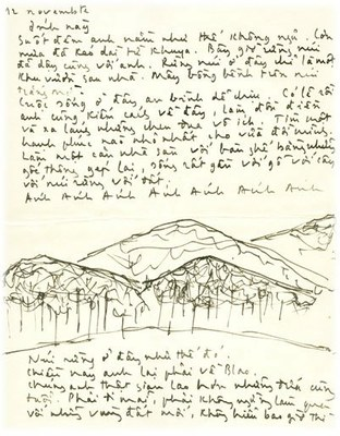 Thủ bút TCS - đồi núi Blao 1964